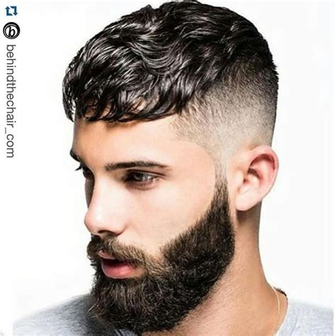 mens hair style pin rich back auf beard 2803