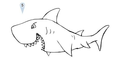 cartoon shark drawings sharks shark drawing shark