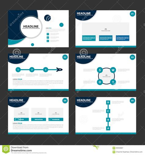blue circle  templates infographic elements