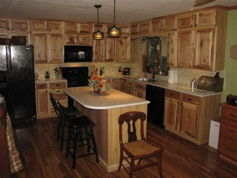 Rustic Kitchen Cabinets Lowes Denver Hickory Stock