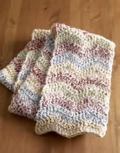 Free Crochet Ripple Scarf Pattern