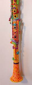 Bright Hand Painted Clarinet by BeesCuriosityShoppe on ...