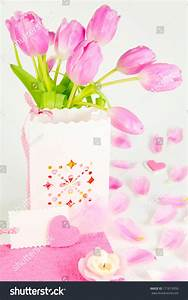 Valentine Greeting Mothers Day Surprise Stock Photo ...