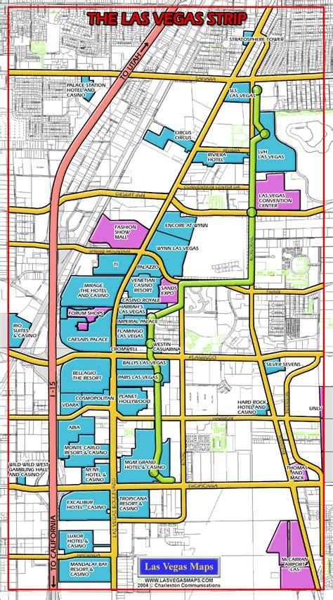 las vegas maps las vegas strip map