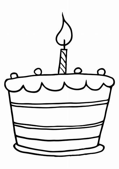 Coloring Cake Birthday Candle Pages Clipart Candles