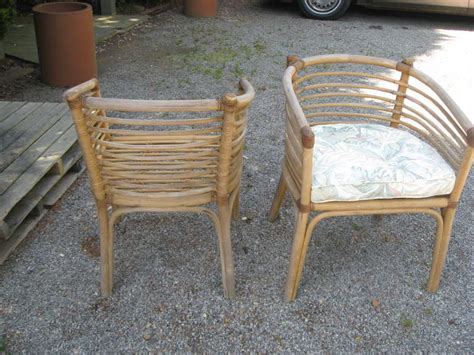 1950s stick wicker tub chairs for sale at 1stdibs