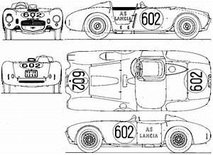 1953 lancia d24 v6 formula blueprints free outlines With 1953 jaguar c type