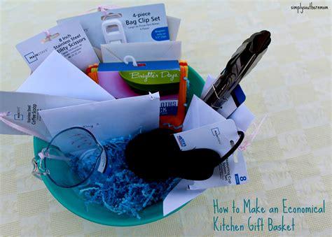 economical kitchen gift basket simply