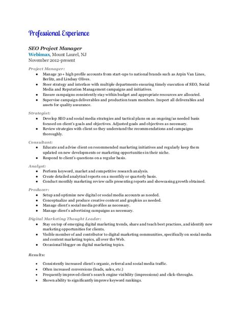 Digital Marketing Manager Resume Exle by Digital Marketing Manager Resume Marilyn