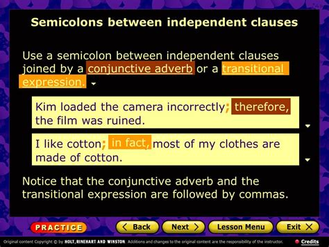 Using Semicolons And Colons  Ppt Video Online Download