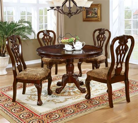 buy   elana brown cherry wood  dining table set