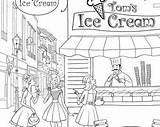 Ice Cream Colouring Coloring Template sketch template