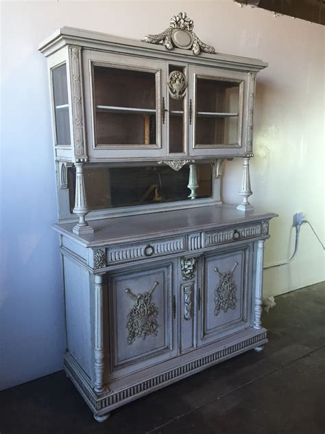 route  furniture french fushion antique large china hutch
