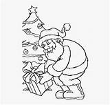 Santa Claus Coloring Gifts Draw Gives Cartoon Netclipart sketch template