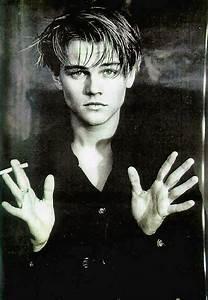 black and white, cigarette, cute, leonardo dicaprio, young ...