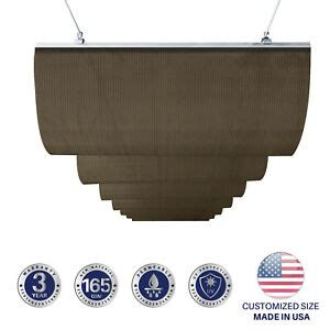 brown retractable   wire canopy awning roofing replacement  deck patio ebay