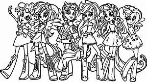 My Little Pony Girls Coloring Page | Wecoloringpage