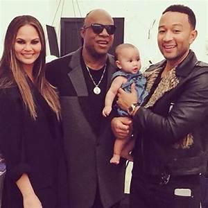 John Legend his wife Chrissy Teigen and daughter baby Luna ...