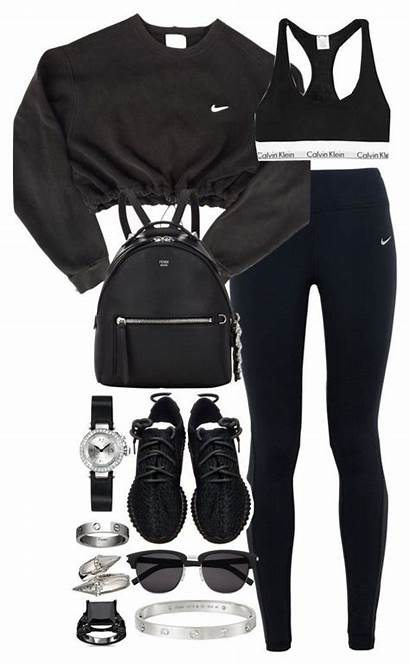 Outfits Polyvore Nike Gym Leggings Swag Sport