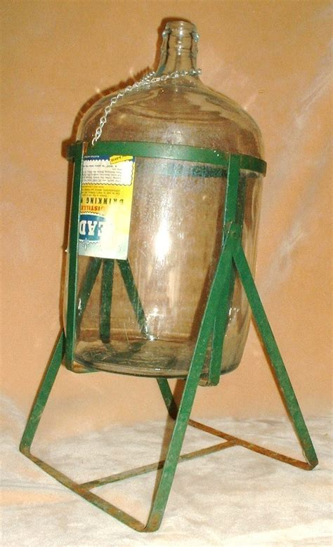 Water Gallon Stand 5 gallon glass water jug with metal tipping stand wow other