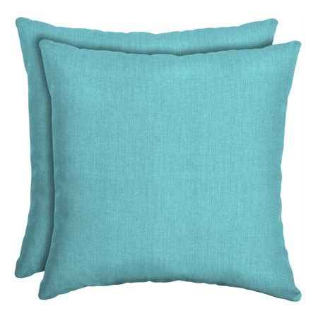 Turquoise Toss Pillows by Mainstays Solid Turquoise Outdoor Outdoor Toss Pillow