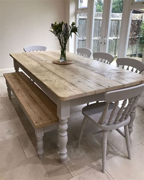 white rustic kitchen table set best 25 farmhouse kitchens ideas on farm