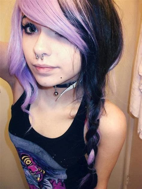 I Heart Purple And Black Together Shes Adorbs Too Hair