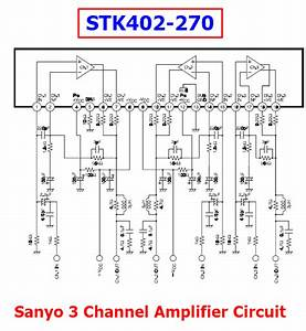 Sanyo 3 Channel Amplifier Circuit