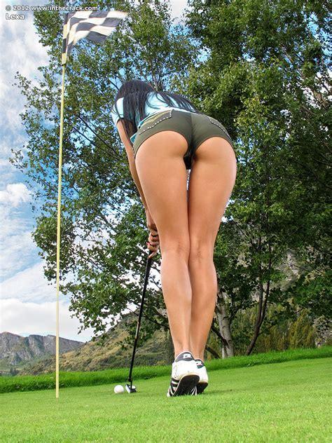 Hotty Stop Lexa Nude Golf In The Crack