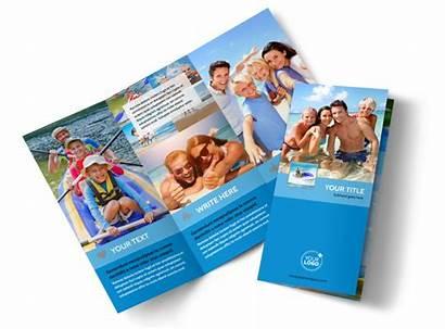 Brochure Resort Beach Template Flyer Templates Fold