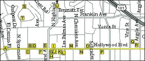 map  hollywood boulevard