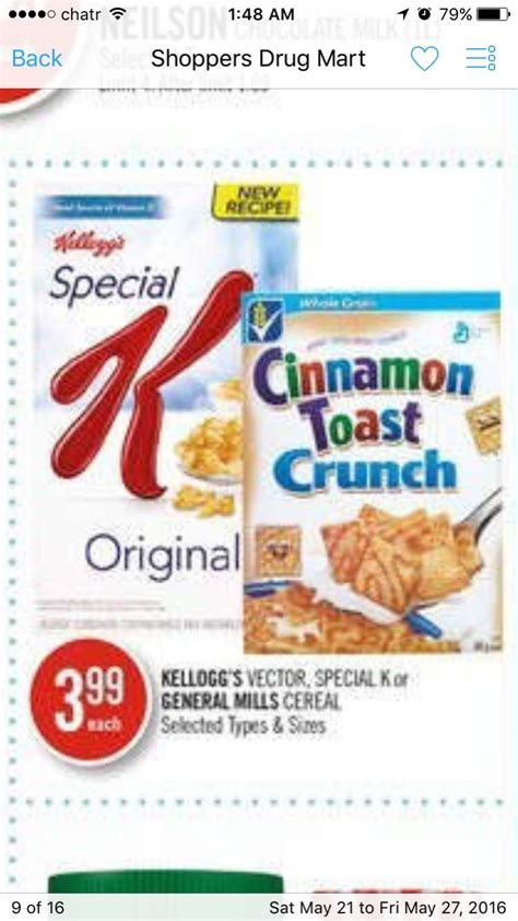 vector cereal coupon