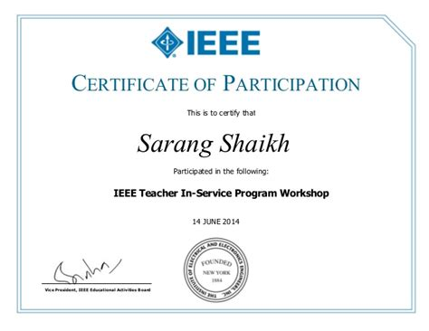 template for certificate of participation in workshop certificate