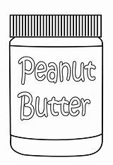 Butter Peanut Jar Coloring Pages Food sketch template