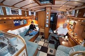 Boat house interiors out and about pinterest house for Interior decorating ideas for boats