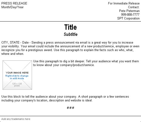 press release email template page not found constant contact