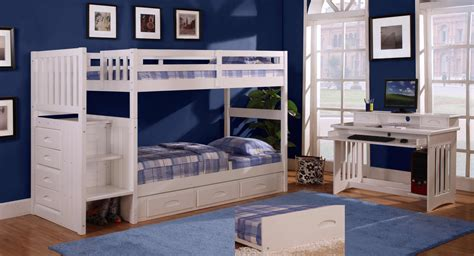 bed and desk set discovery world furniture twin over twin white staircase