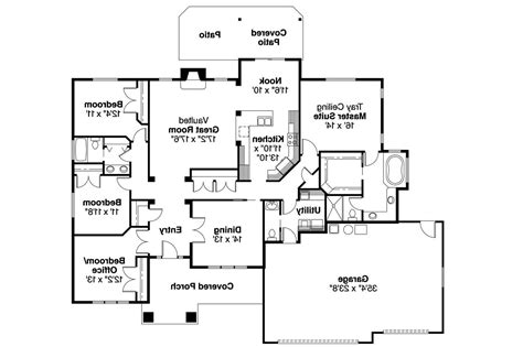 Craftsman Style Floor Plans by Craftsman House Plans Goldendale 30 540 Associated Designs