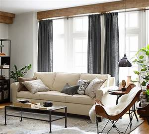 cameron square arm upholstered sofa pottery barn With pottery barn cameron sofa sectional