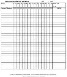 Printable Teachers Roll Book Sheets