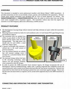Hersey Meters Hotrodmetalv1 Amr Transmitter User Manual