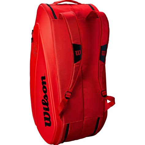wilson federer dna  racket bag red tennisnutscom