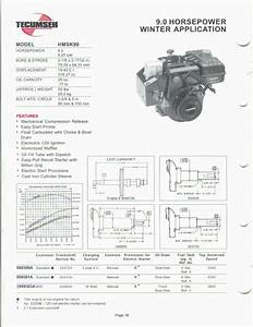 Engine Specifications Chart