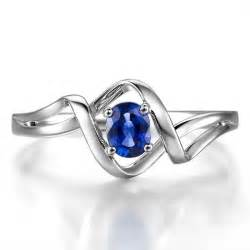 sapphire engagement ring solitaire sapphire engagement ring on 10k white gold jewelocean