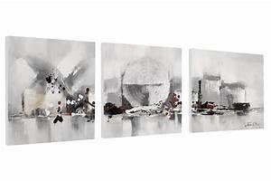 Wandbilder Grau Weiss : abstraktes bild set in schwarz wei kaufen kunstloft ~ Sanjose-hotels-ca.com Haus und Dekorationen