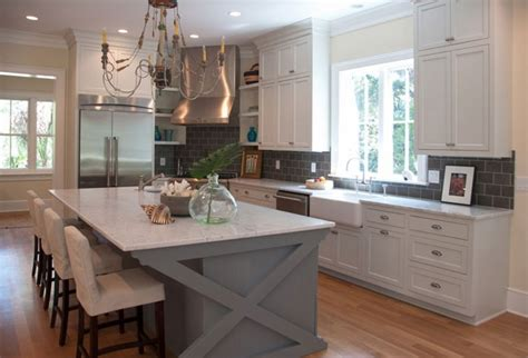 grey and white cabinets two reasons why subway tile backsplash is your best choice
