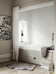 la separation de piece amovible optez pour un rideau With creer une chambre dans un studio