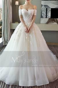 Robe De Mariée Champagne : robe de mari e princesse bustier en dentelles et tulle douce ~ Preciouscoupons.com Idées de Décoration