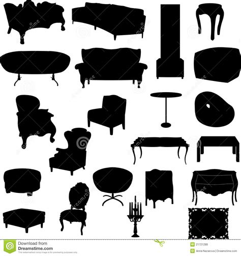 Furniture Silhouettes Royalty Free Stock Photos - Image ...