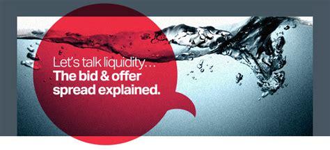 bid offer let s talk liquidity the bid offer spread